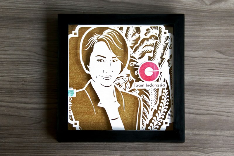 A unique face sketch for an exclusive gift on farewell, retirement, a token of appreciation for the boss, CEO, director in company